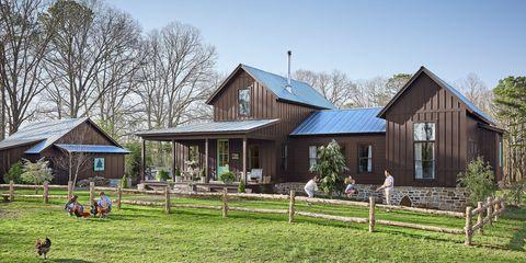 House, Home, Property, Building, Farmhouse, Cottage, Real estate, Farm, Land lot, Rural area,