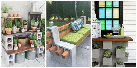 Awesome Genius Ways People Are Using Cinder Blocks In Their Gmtry Best Dining Table And Chair Ideas Images Gmtryco
