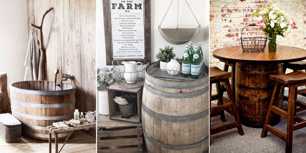 35 Genius Ways People Are Repurposing Whiskey Wine Barrels How To Use As Decor