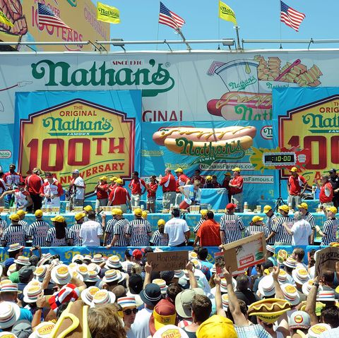 new york, ny   july 04 atmosphere at the 2016 nathans famous 4th of july international hot dog eating contest at coney island on july 4, 2016 in new york city photo by bobby bankwireimage