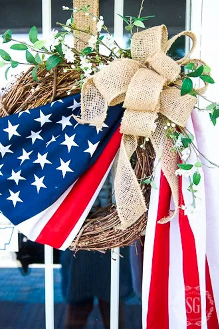15 Easy Diy 4th Of July Wreaths How To Make A Fourth Of