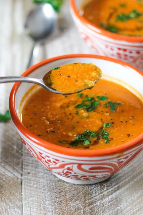 Dish, Food, Cuisine, Carrot and red lentil soup, Ingredient, Dal, Curry, Gravy, Produce, Indian cuisine,
