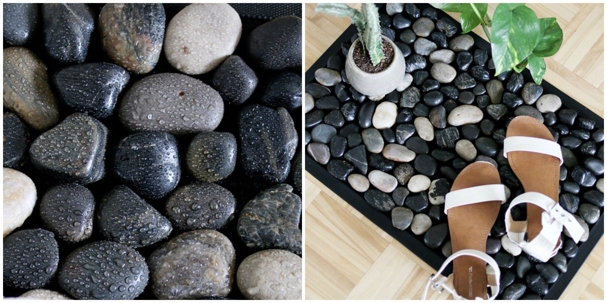 How to Make a River Stone Bath Mat For Your Shower - Easy DIY Stone ...