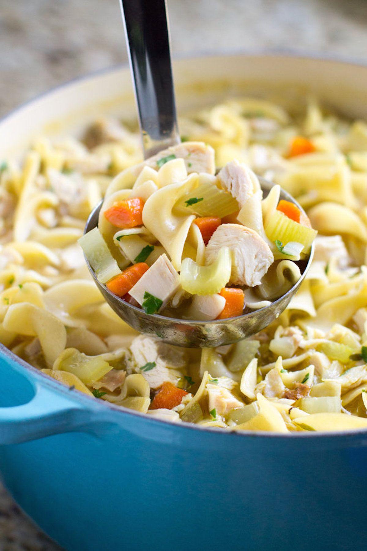 leftover turkey noodle soup recipe