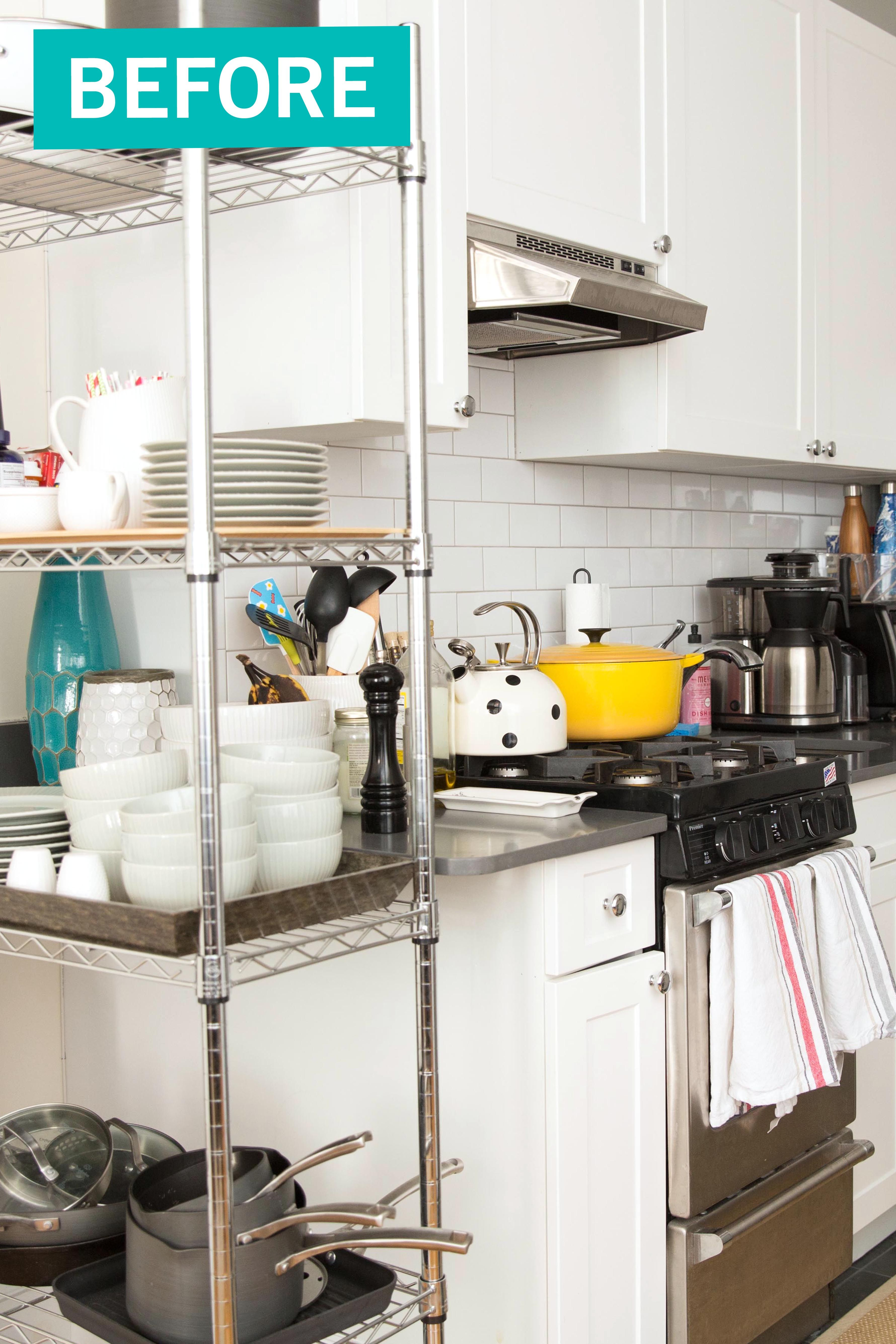 kitchen organization makeover