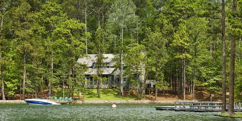 Tree, Natural environment, Nature reserve, Lake, Shore, House, Forest, Home, Woody plant, Cottage,