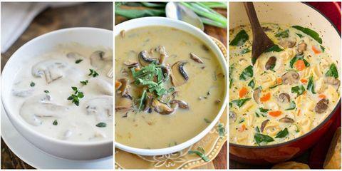 Dish, Food, Cuisine, Ingredient, Clam chowder, Cream of mushroom soup, Soup, Tom kha kai, Leek soup, Chowder,