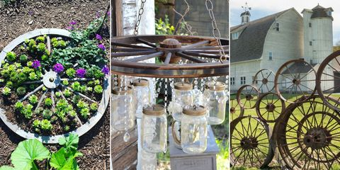 Old Wagon Wheels In Your Garden