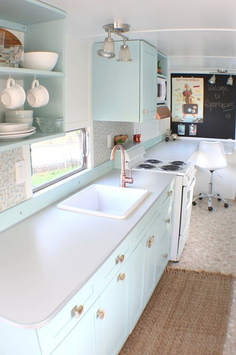 Countertop, Room, White, Kitchen, Property, Furniture, Cabinetry, Interior design, Floor, Sink,