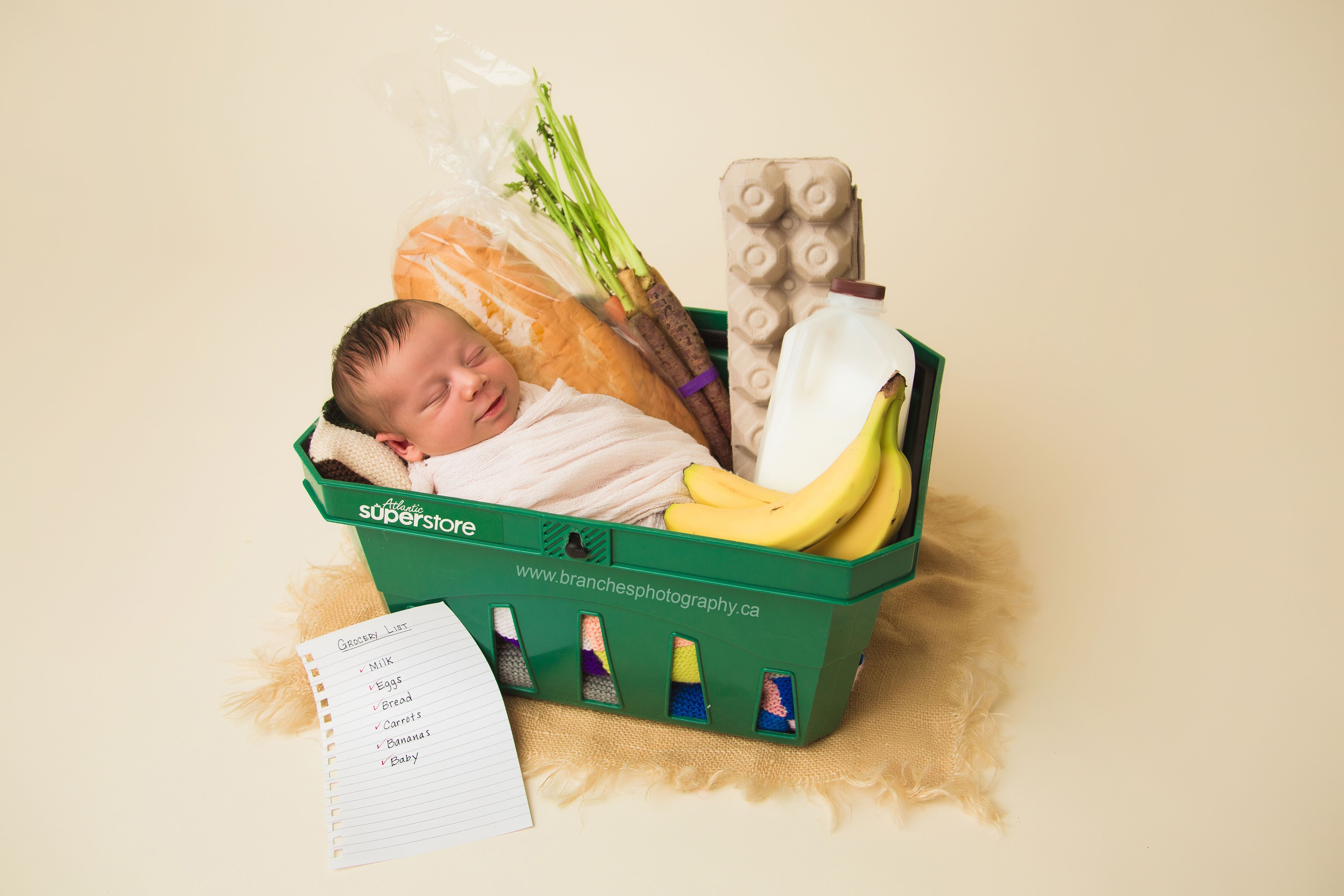 This produce themed baby photo shoot is the sweetest thing youll see today