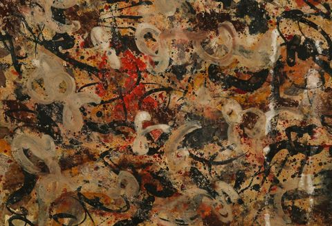 Painting, Brown, Art, Textile, Modern art, Tree, Visual arts, Pattern, Tapestry, Acrylic paint,