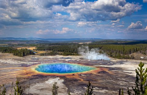 Natural landscape, Body of water, Nature, Water resources, Wilderness, Sky, National park, Water, Geology, Geyser,