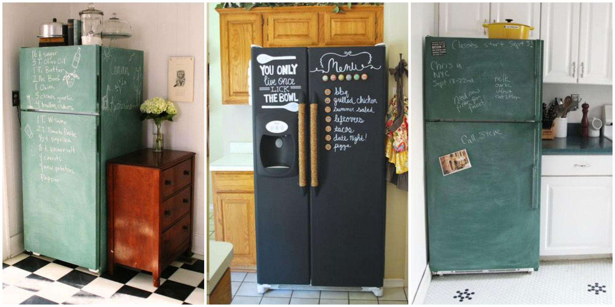 Chalkboard Fridges Are Having A Moment How To Paint Your Fridge
