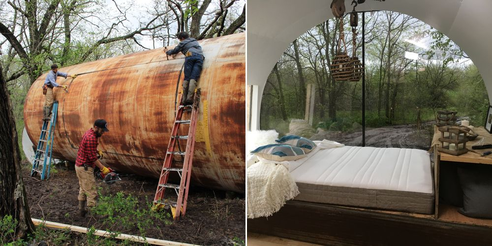 This Rusty Storage Tank Was Converted Into a Luxurious Tiny House