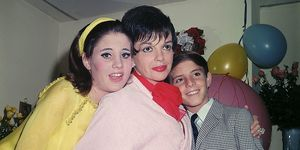 Judy Garland and children Lorna, 14, and Joey, 12, following a performance in 1967.