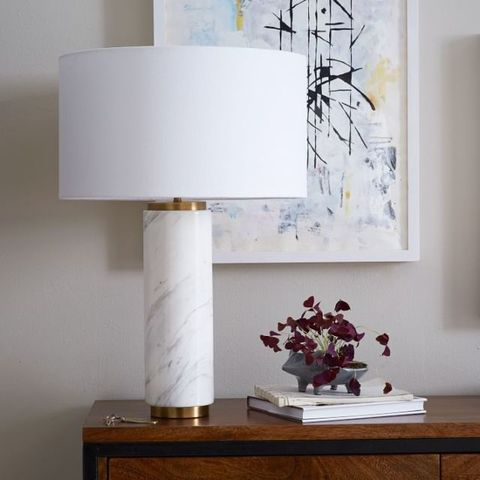 Lampshade, White, Lighting accessory, Table, Lighting, Room, Light fixture, Furniture, Lamp, Interior design,