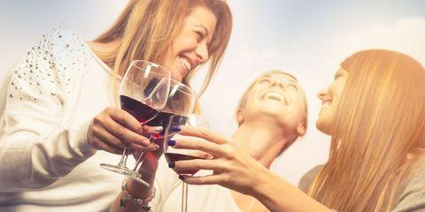 Drinking, Fun, Alcohol, Drink, Champagne stemware, Blond, Friendship, Stemware, Photography, Wine glass,