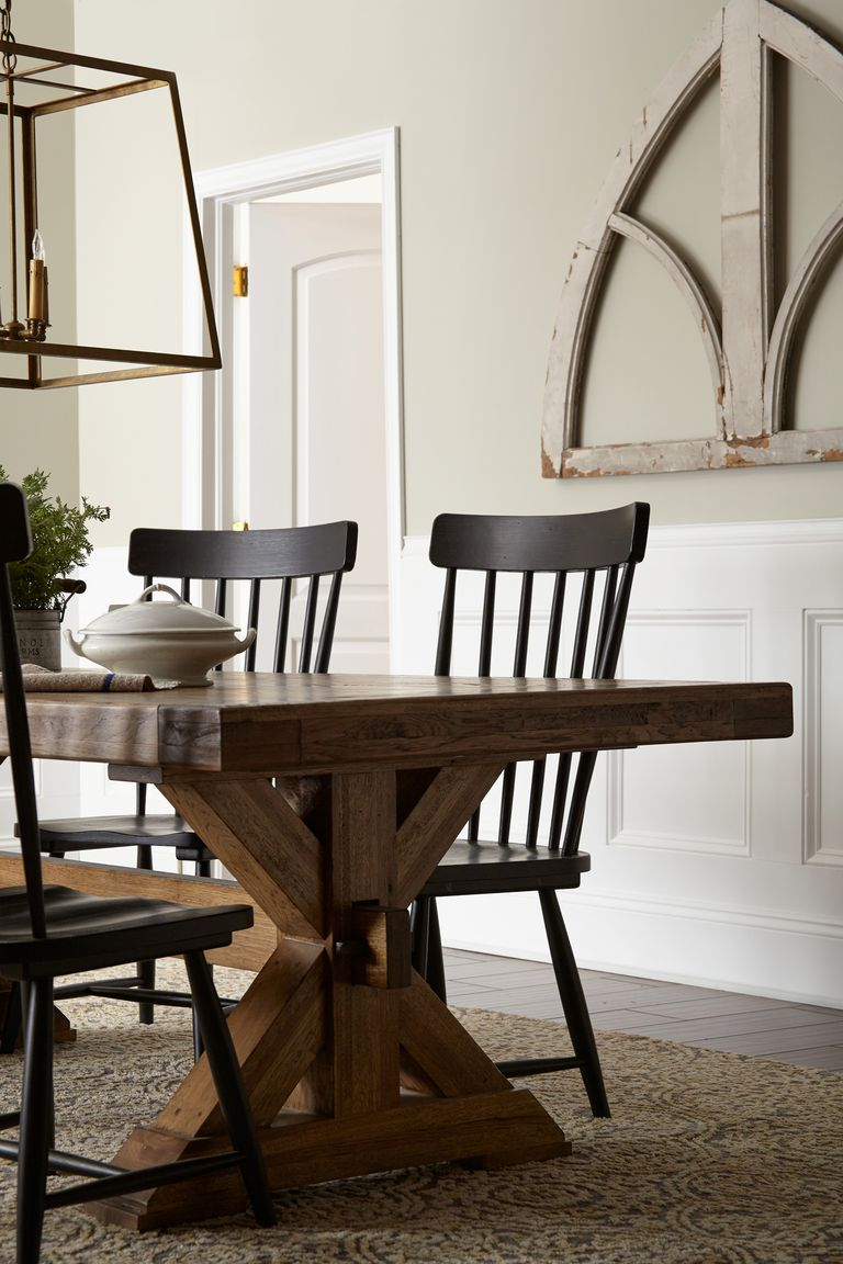 Painted Shiplap Dining Room