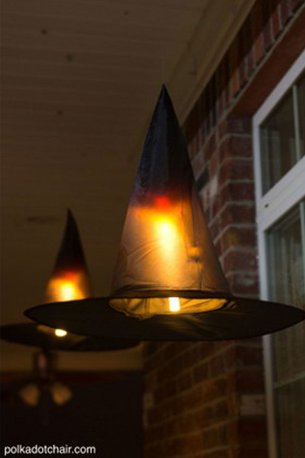 outdoor halloween decorations floating witch hats