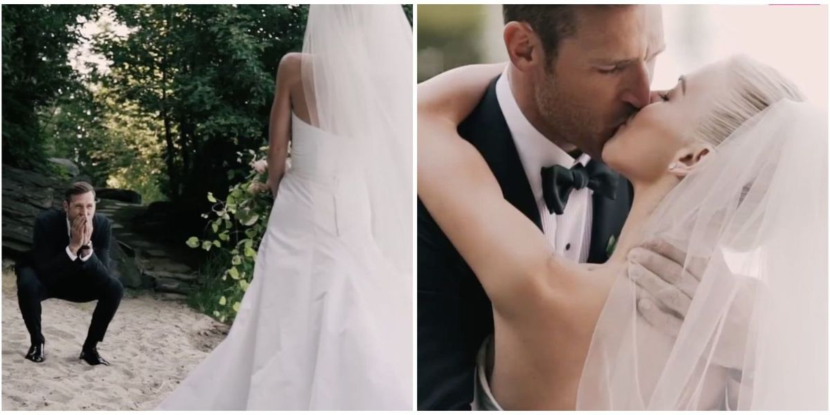 Watch Brooks Laich Burst Into Tears When He Sees Julianne Hough on Their Wedding Day
