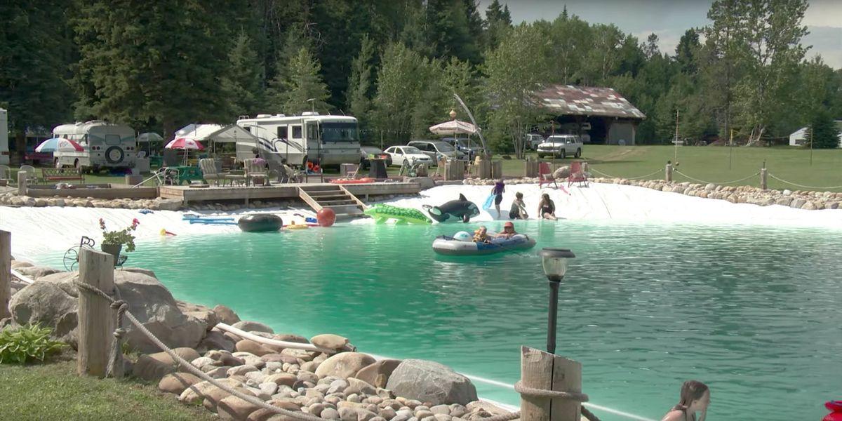 This man built a gigantic backyard swimming pool solutioingenieria Choice Image