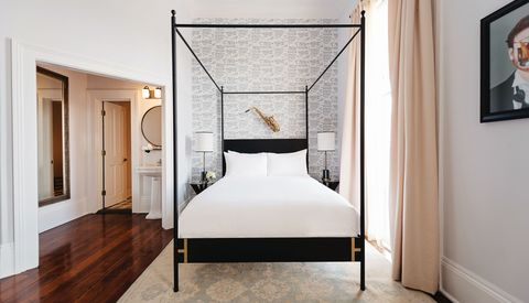 Bedroom, Furniture, Room, Bed, Interior design, Property, Bed frame, Floor, Suite, Wall,