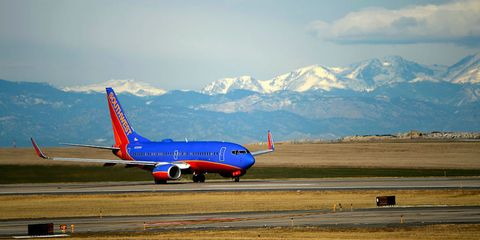 Airplane, Mode of transport, Aircraft, Airport, Runway, Airliner, Transport, Infrastructure, Air travel, Mountain range,