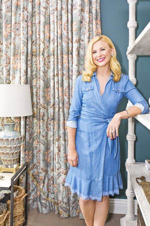 Blue, Clothing, Dress, Denim, Fashion, Cobalt blue, Electric blue, Textile, Shoulder, Blond,