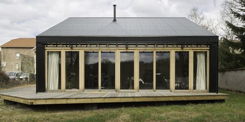 House, Building, Home, Sky, Architecture, Tree, Roof, Pavilion, Estate, Orangery,