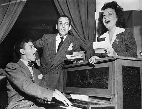 Ethel Merman, Frank Sinatra, Moss Hart