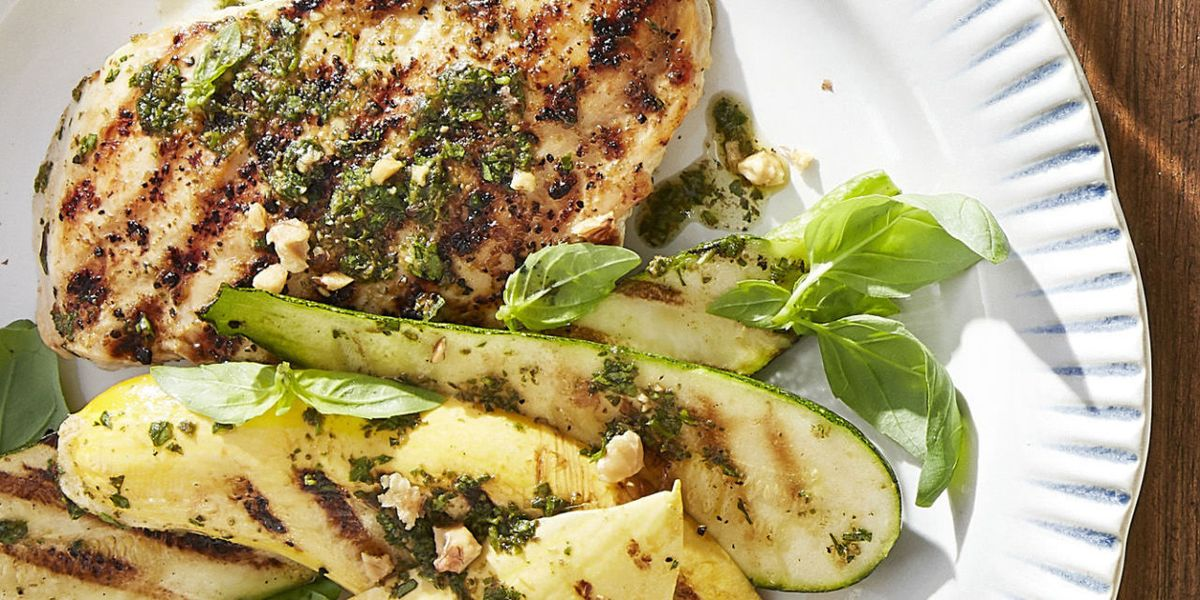 Best Grilled Pesto Chicken With Summer Squash How To