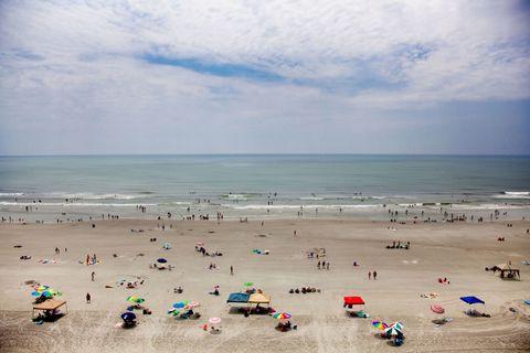 People on beach, Beach, Sea, Sand, Ocean, Sky, Shore, Coast, Vacation, Horizon,