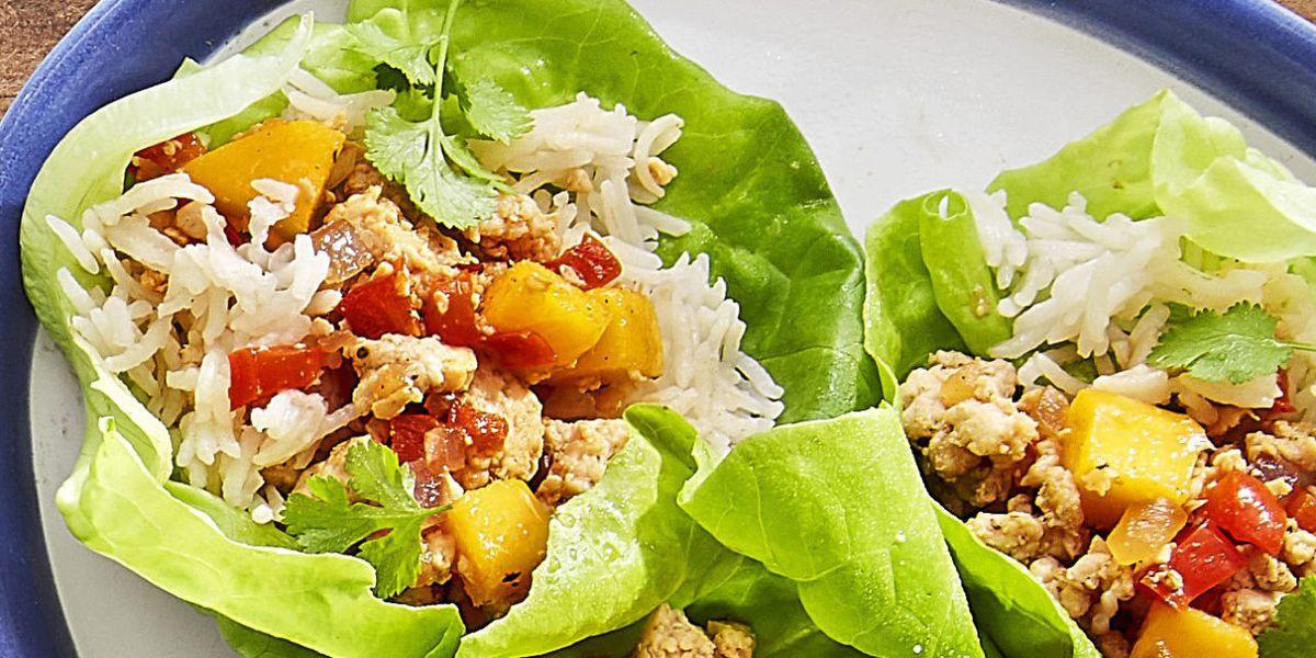 Best Jerk Chicken And Mango Lettuce Cups Recipe How To Make Jerk Chicken And Mango Lettuce Cups