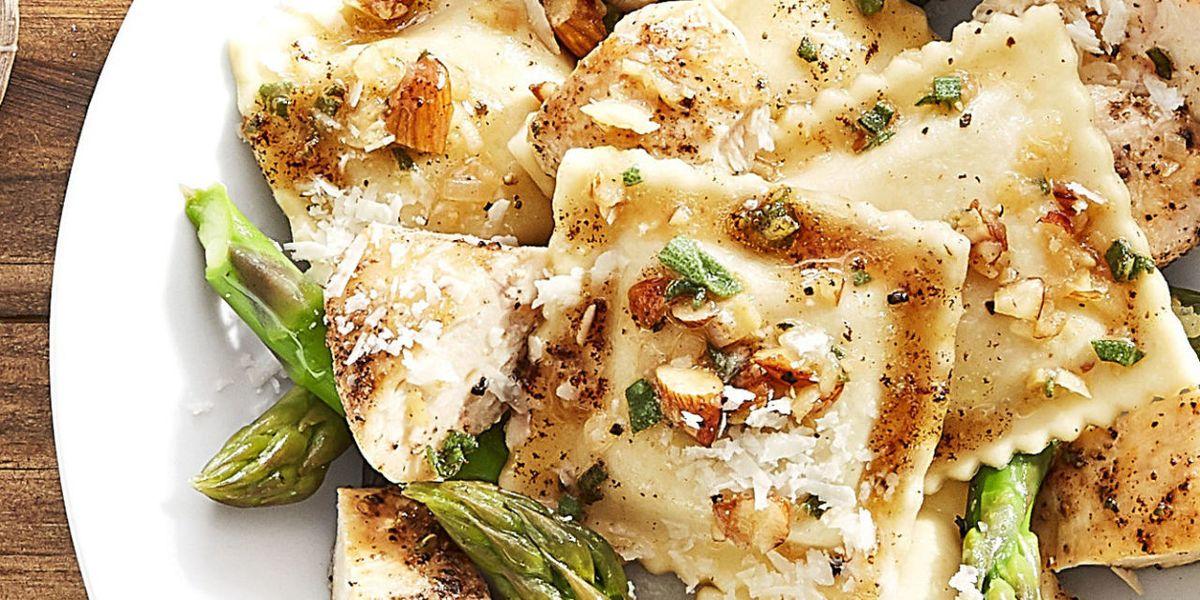 Butternut Squash Ravioli with Seared Chicken