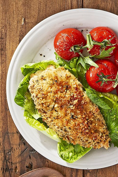 roasted parmesan chicken and tomatoes