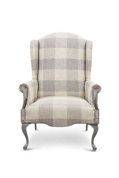 Chair, Furniture, Beige, Club chair, Outdoor furniture, Tartan,