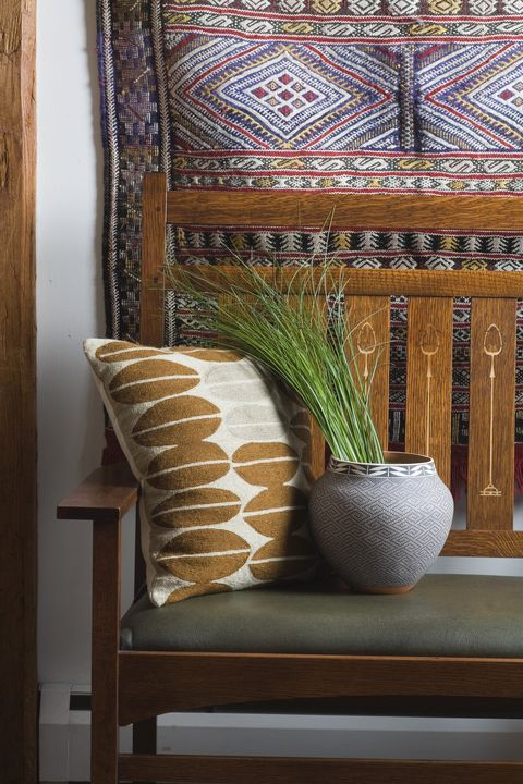 Room, Furniture, Interior design, Living room, Cushion, Table, Chair, Textile, Pillow, House,