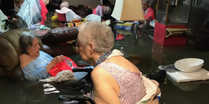 Hurricane Harvey floods a nursing home in Texas.