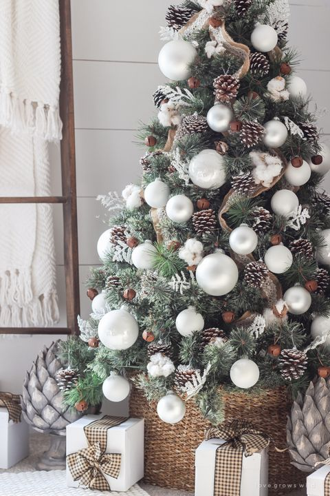 22 simple farmhouse christmas tree farmhouse white christmas tree