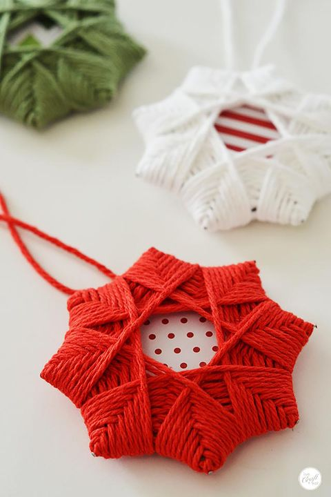 homemade christmas tree star ornaments - Homemade Christmas Ornament Ideas