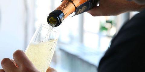 Alcohol, Drink, Champagne, Alcoholic beverage, Wine, Champagne cocktail, Bottle, Beer, Hand, Distilled beverage,