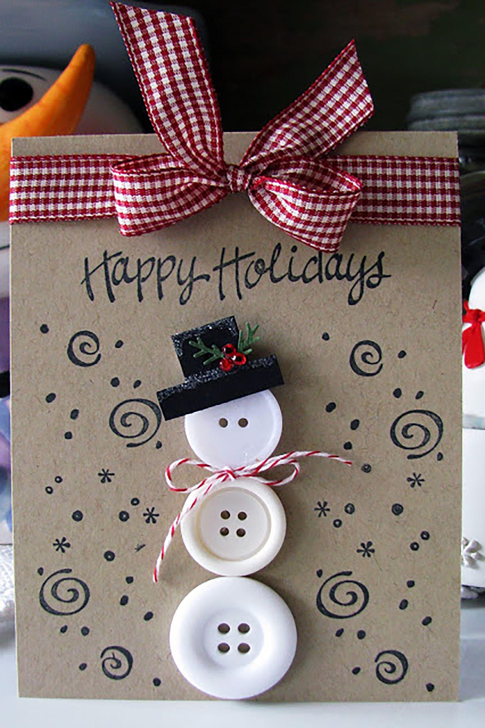 20 Diy Christmas Card Ideas Easy Homemade Christmas Cards Were