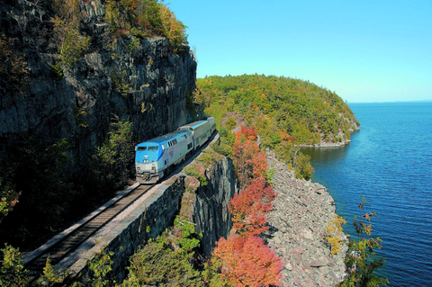 amtrak's dome car - fall foliage train rides adirondack mountains new york
