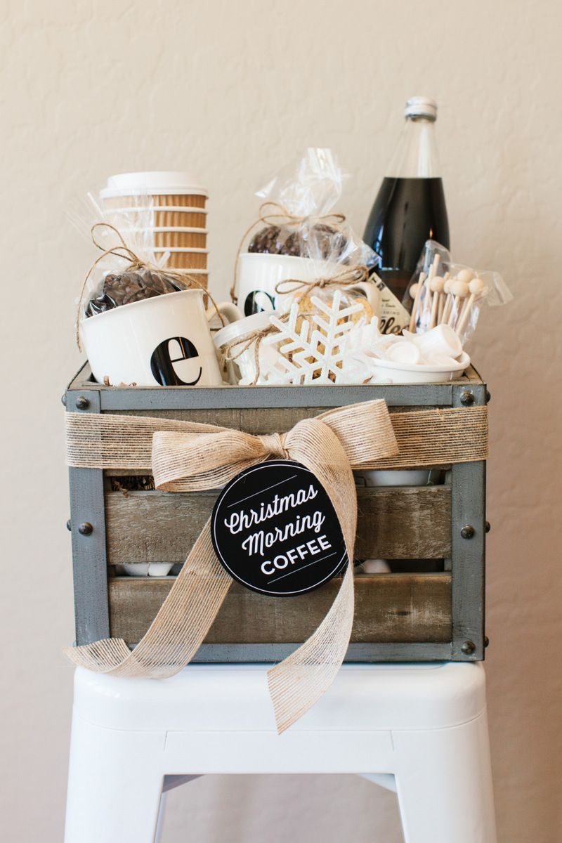 diy coffee gift basket & 18 DIY Christmas Gift Basket Ideas - How To Make Your Own Holiday ...
