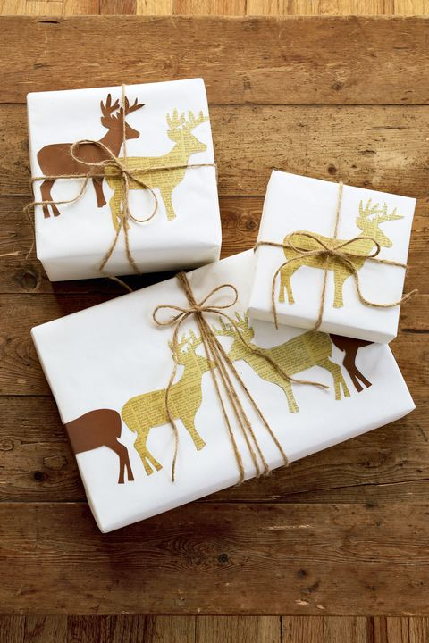 gift wrapping idea deer