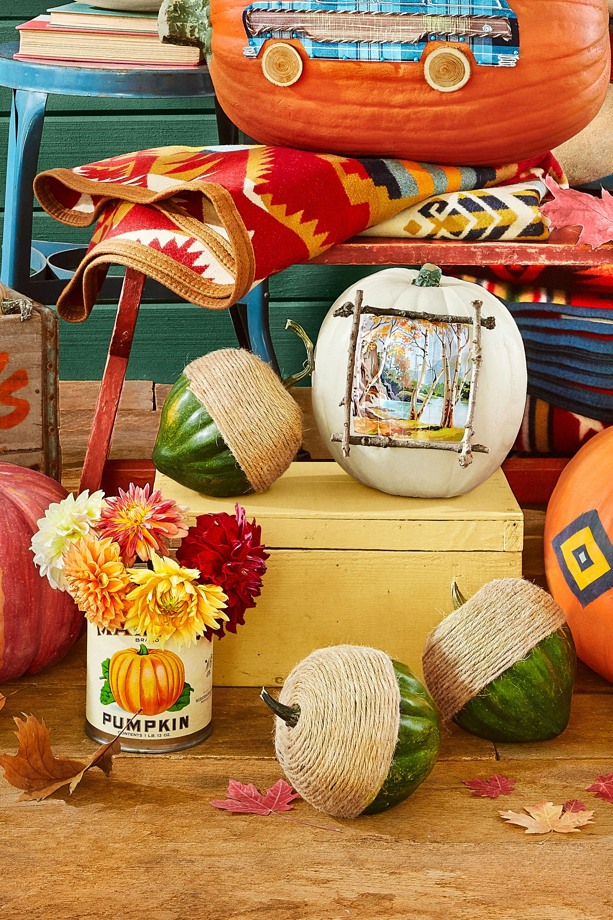 57 Easy Painted Pumpkins Ideas - No Carve Halloween Pumpkin Painting &  Decorating Ideas