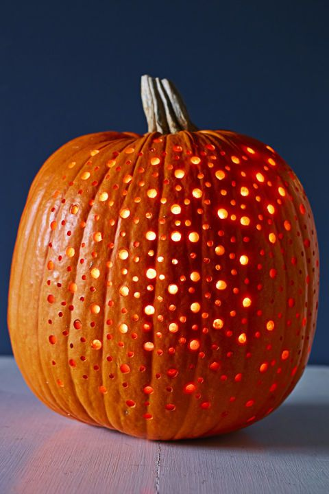Carving Pumpkin With Drill