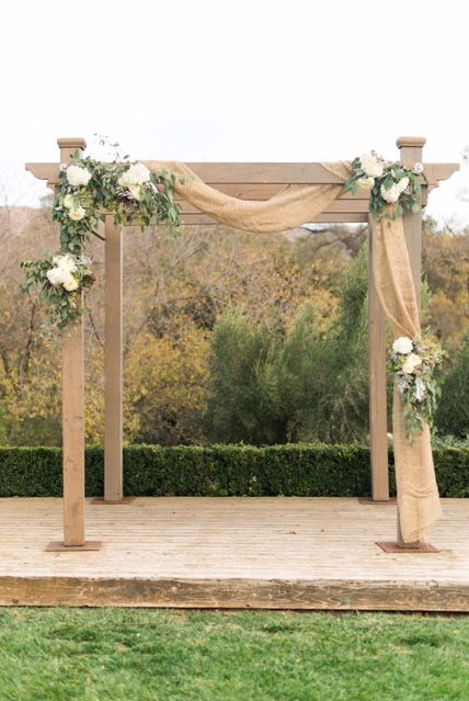 Sanaz Photography Rustic Ceremony Arch