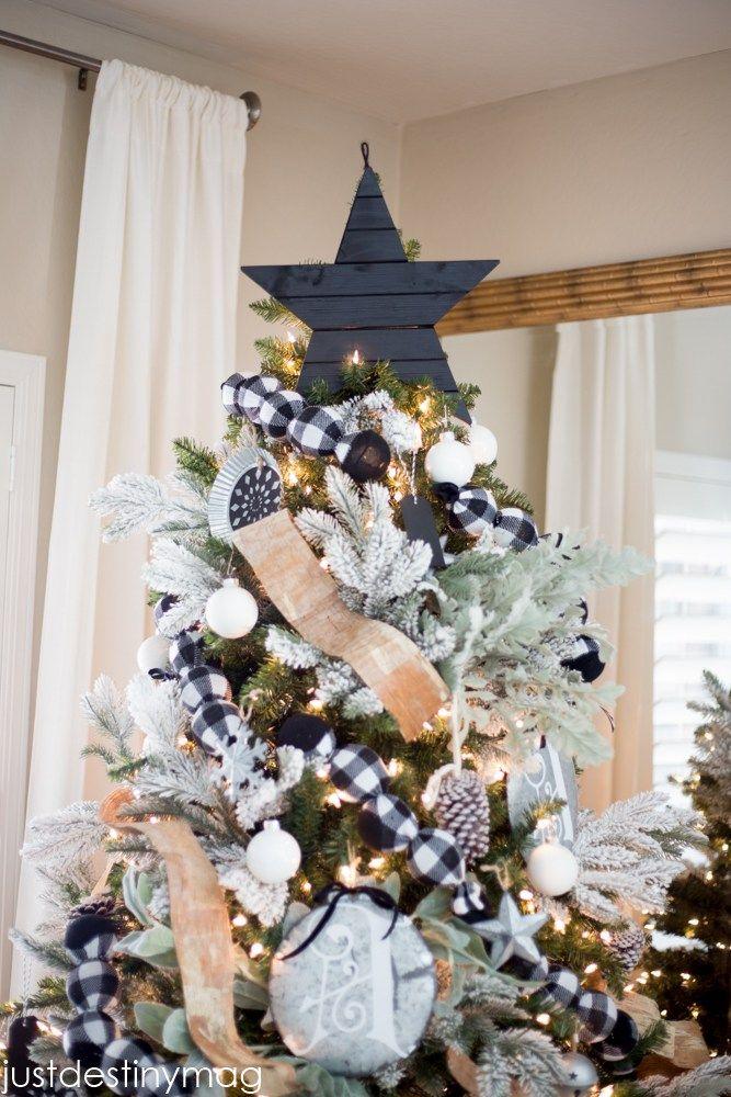 Wood christmas tree star topper