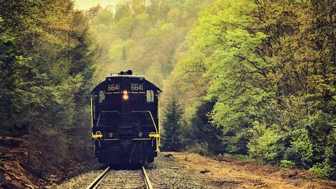 Image result for peaceful mountain train